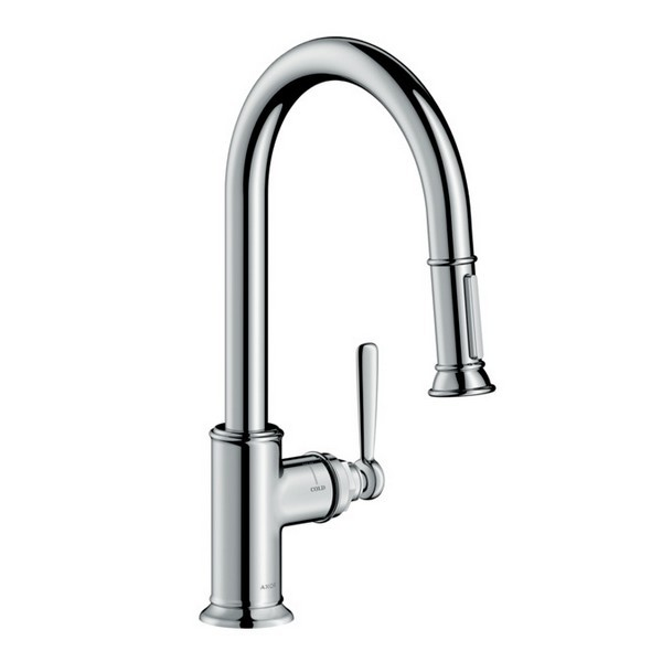 Hansgrohe 16581 Axor Montreux 2 Spray Higharc Pull Down Kitchen Faucet