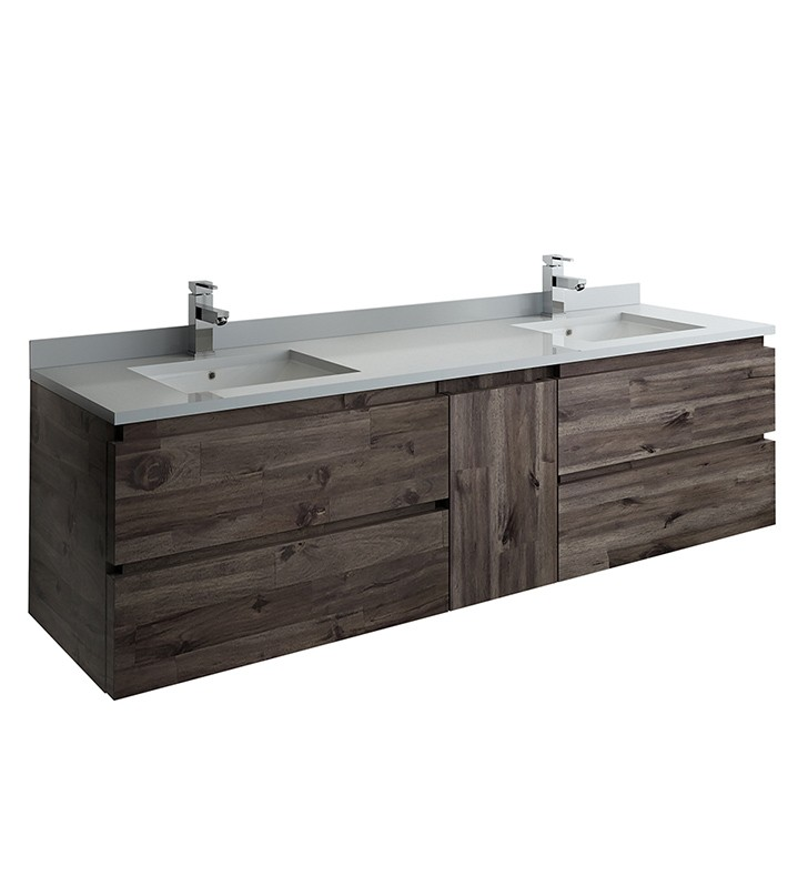 Fresca Fcb31 301230aca Cwh U Formosa 72 Inch Wall Hung Double Sink Modern Bathroom Cabinet With Top And Sinks In