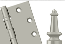Deltana Hinges and Finials