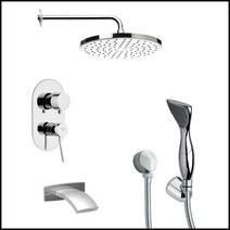 Shower + Hand-Shower + Tub Filler