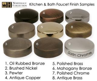 Faucet finish samples