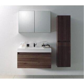 Lada Quadro A40 Wall Hung Bathroom Storage Linen Cabinet