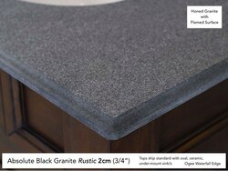 Absolute Black Rustic Granite 2cm