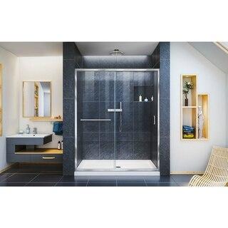 Infinity Z Shower Door 60 Chrome