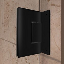 Black Satin Wall to Glass Hinge