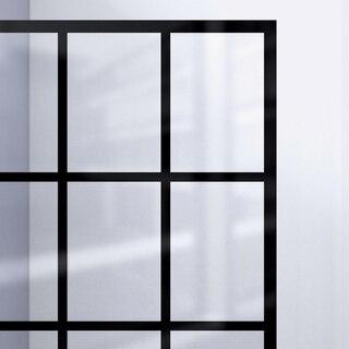 French Linea Shower Door Black Pattern 89