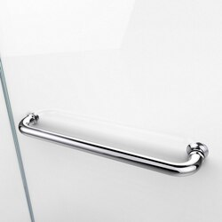 Aqua Shower Door Towel Bar Chrome