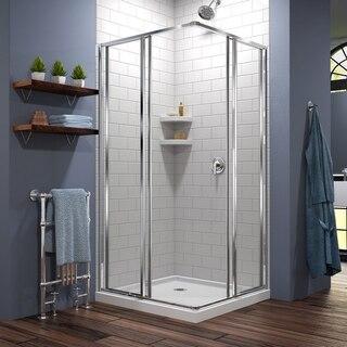 Cornerview Shower Enclosure White Base Open 01