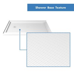 Double Threshold Shower Base L-Texture
