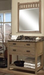 Weathered Oak Vanity Cabinet