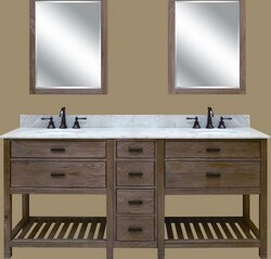 SAGEHILL DESIGNS TB4821D WEATHERED OAK TOBY 48 INCH VANITY ...