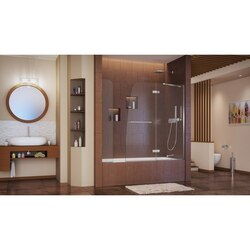 Aqua Ultra Tub Door with Extender Interior Chrome