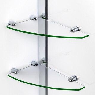 Elegance Shower Door Glass Shelves Chrome