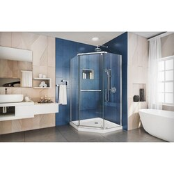 Prism Shower Enclosure Chrome White Base
