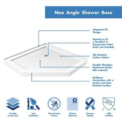 Neo Angle Shower Base highlights