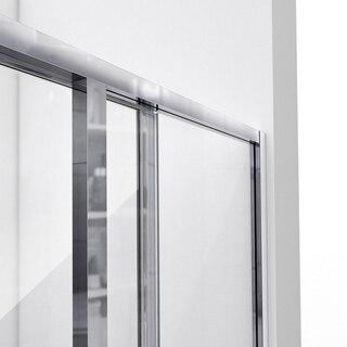 CornerView Shower Door Top Track Open Door 01