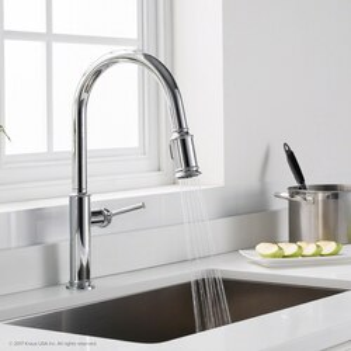 Kraus Kpf 1680ch Sellette Single Handle Pull Down Kitchen Faucet With Dual Function Sprayhead Kraus Kpf 1680orb