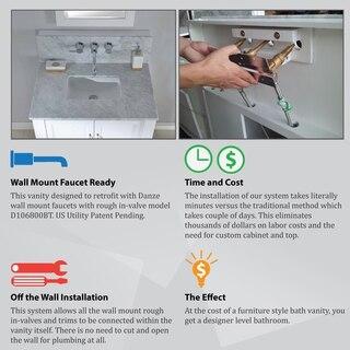 direct vanity sink wall mount