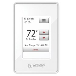 ft 6 sq WarmlyYours TRT120-KIT-OT-3.0x02 Tempzone Easy Electric Floor Heating Mat Kit Touch Screen Thermostat