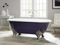 Custom painted bathtub exterior