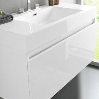 Fresca FVN8010WH White Vanity