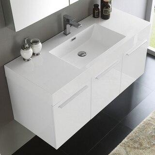 Fresca FVN8092WH White Vanity