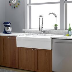 Barclay Fsdb1514 Bq Lowell 35 1 2 Inch Double Bowl Apron Front Farmer Kitchen Sink Bisque