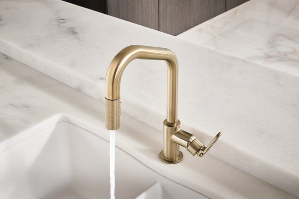 Brizo 63064LF Litze Pull-Down Faucet with Angled Spout and ...