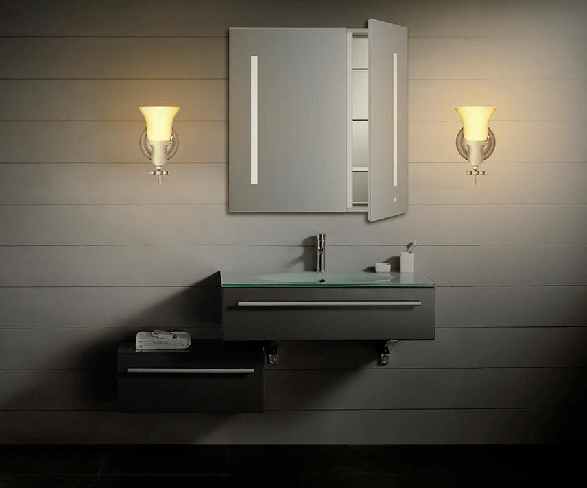 Robern Bathroom Sconces robern fairhaven single sconce (mllwfh)