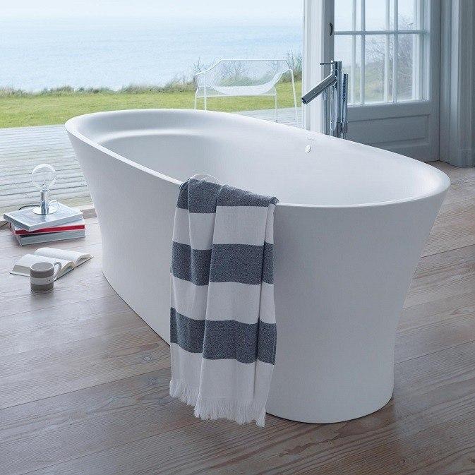 Duravit 700330000000090 Cape Cod 73 x 34-7/8 Inch Freestanding White ...