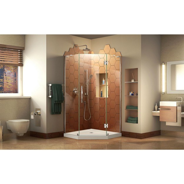 Dreamline DL-6060 Prism Plus 36 x 36 x 74 3/4 Frameless Hinged ...