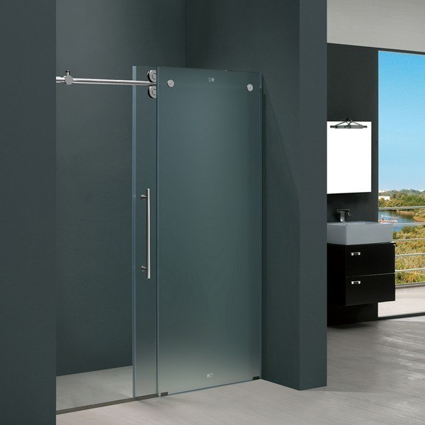 Vigovg6041mt6074l 60 Inch Frameless Shower Door Frosted