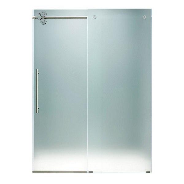 Vigovg6041mt6074l 60 Inch Frameless Shower Door Frosted