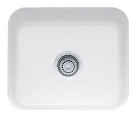 Franke CCK110-19WH White Cisterna 21 Inch Undermount Single Bowl Fireclay Sink
