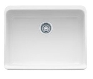 Franke MHK110-24 Manor House 24WH White Inch Apron Front Single Bowl Fireclay Sink