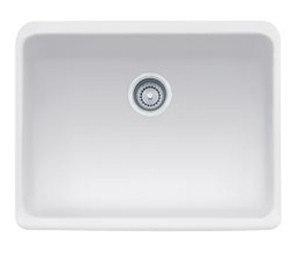 Franke MHK110-24MW Matte White Manor House 24 Inch Apron Front Single Bowl Fireclay Sink