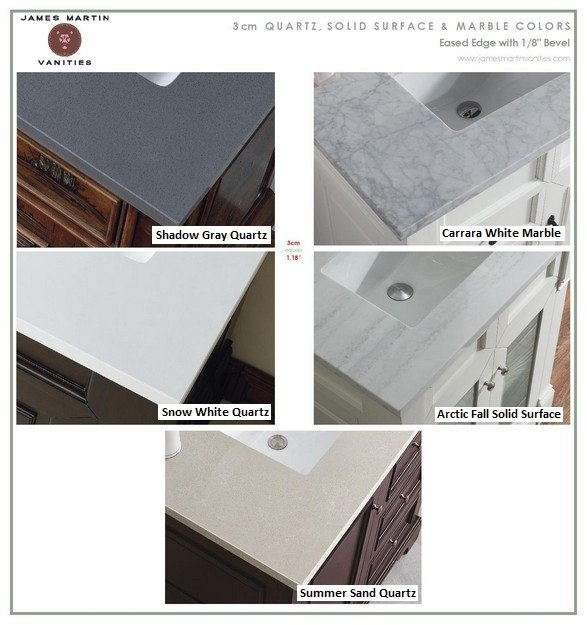 3cm Natural Stone Top Options
