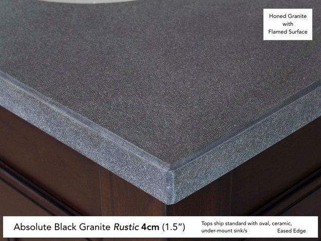 Absolute Black Rustic Granite 4cm