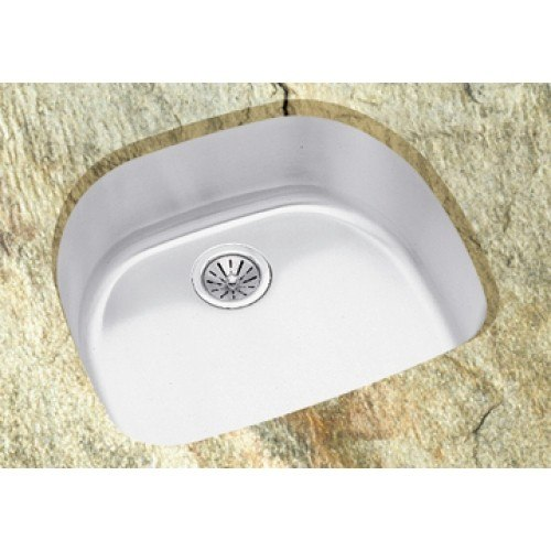 LD2123 Undermount Single D Shaped Bowl Stainless Steel Sink