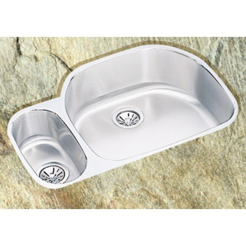 LD2132 Undermount 80/20 Double D-Shaped Bowl Stainless Steel Sink