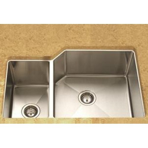 36 undermount kitchen sink lada ld3020l undermount 36 inch offset bowl kitchen 3884