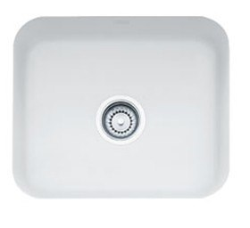 Franke CCK110-19MW Matte White Cisterna 21 Inch Undermount Single Bowl Fireclay Sink