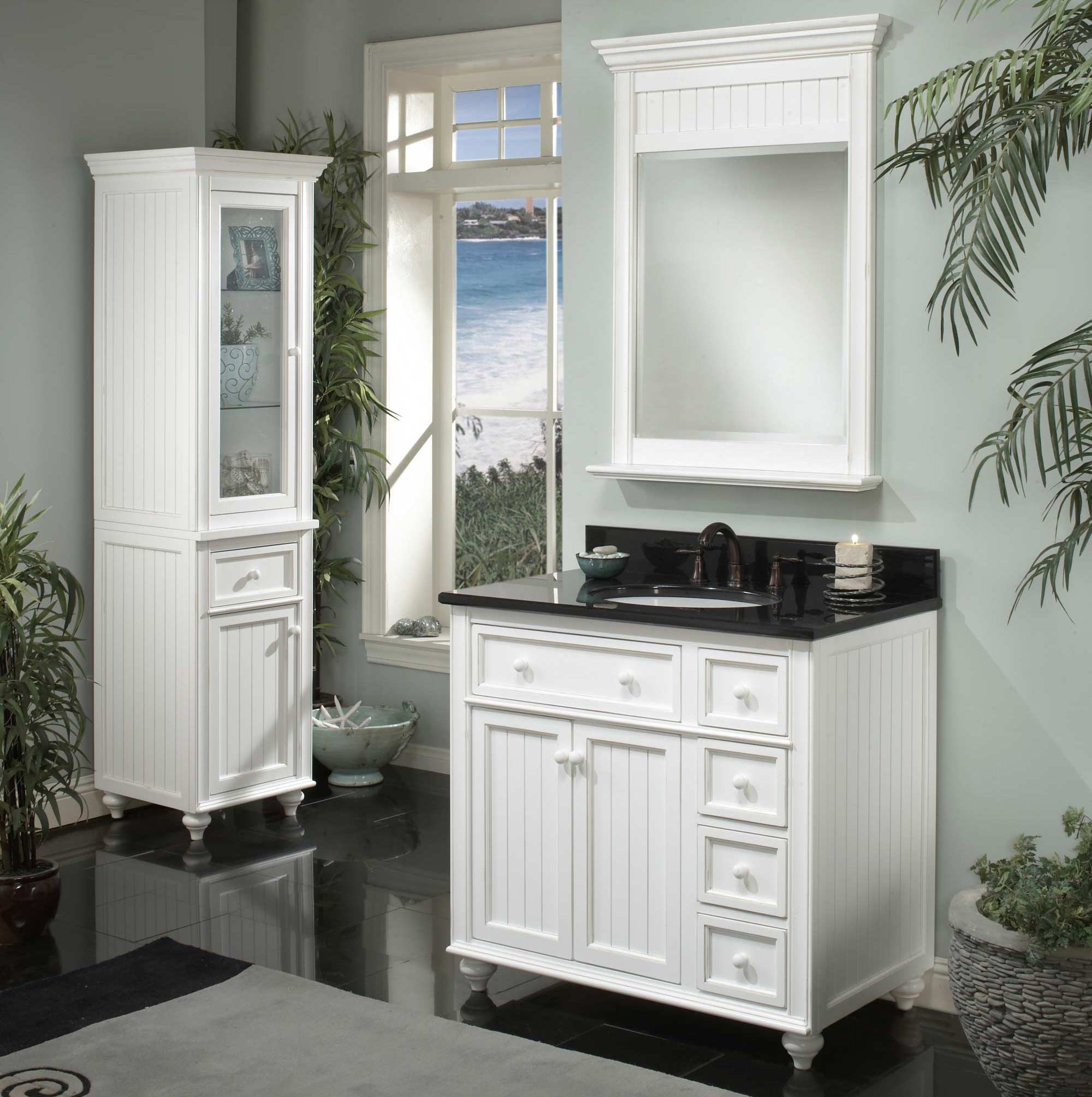 cr3621d sagehill designs cr3621d white bayside cottage retreat 36 inch bathroom vanity cabinet - White Vanities For Bathroom