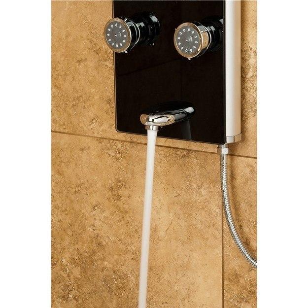 Pulse Showerspas Black Glass Shower Panel