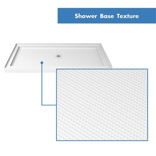 Single Threshold Shower Base Center Drain 60 Texture