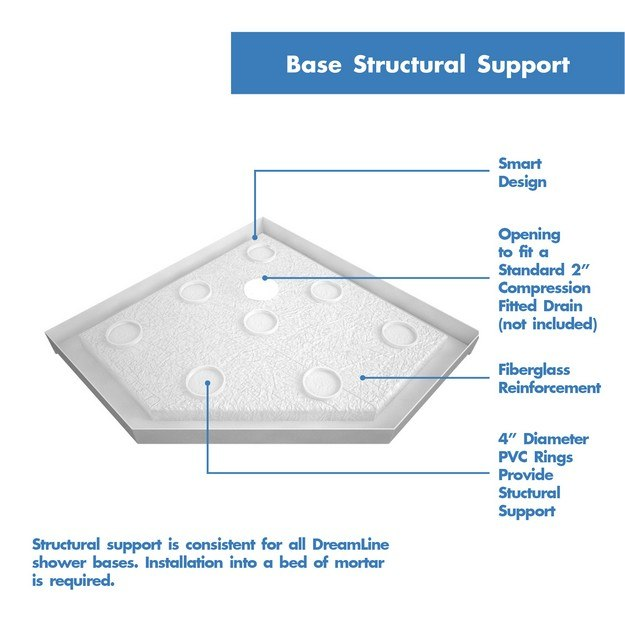 Slimline Black Neo Shower Base Structural Support