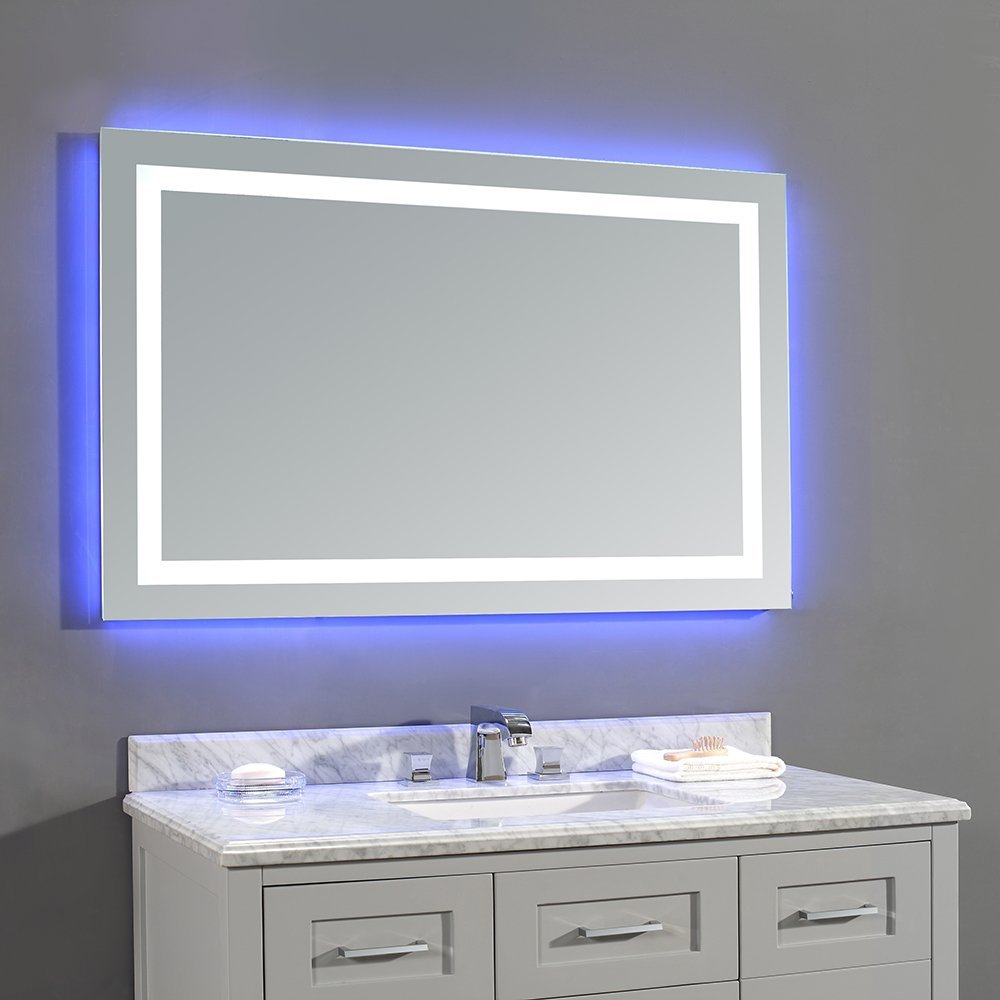 Ove decors 15vmr dl5243 000ga jovian 48 x 28 inch led lighted mirror 15vmr dl5243 000ga for Bathroom vanity mirror with built in lights