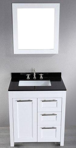 30'' Bosconi SB-267-1 Single Vanity (White)