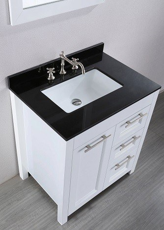 30'' Bosconi SB-267-1 Contemporary Vanity (White)