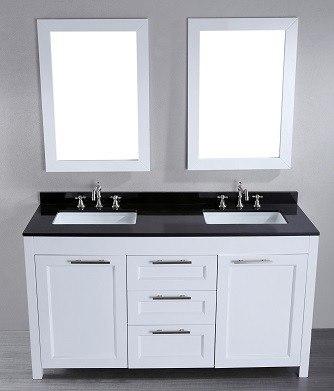 60'' Bosconi SB-267 Double Vanity (White)